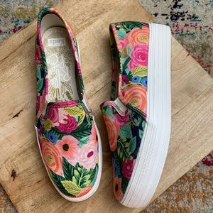 Rifle Paper Co Keds slip on sneakers shoes floral
